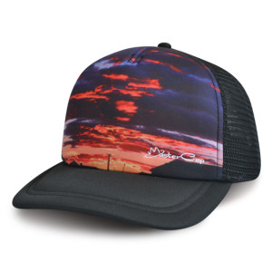 China supplier custom 5-panel Foam Mesh Trucker Cap with Printed