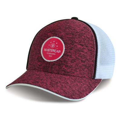 Custom retro knitted fabric yupoong trucker hat baseball cap