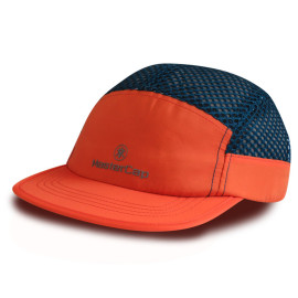 New design 7 panel camper cap sports cap with Reflective plate printing