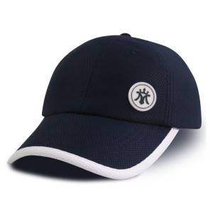 Custom diamond polyester mesh rubber patch sports cap