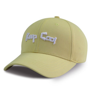 Breathable 6-panel baseball cap with 3D embroidery