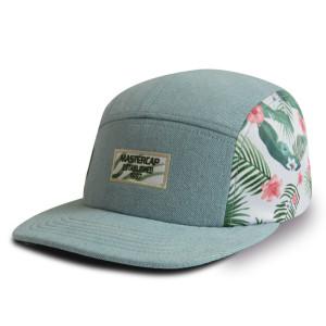 Custom 5-panel Sublimation champing cap snapback cap camper cap