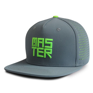 6-panel custom spandex snapback cap with 3D embroidery
