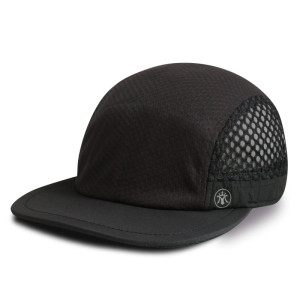 New design 6 panel camper cap sports cap with Reflective plate printing