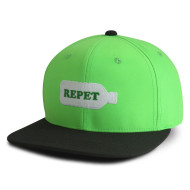 Repet 6 panel snapback cap with embroidery logo