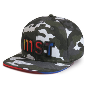 The Camo Snapback Cap with Applique Embroidery Logo