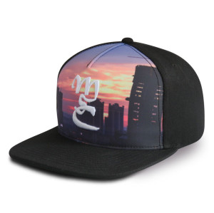 Custom 5 panel flat brim sublimation and embroidered trucker snapback hat cap