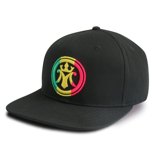 6 Panel Snapbacker Cap with 3D Embroidery Logo