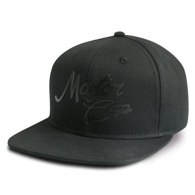 Custom 6-panel snapback cap with embossed logo