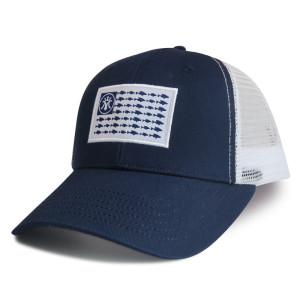 6 panel baseball cap with Woven Label Edge Rust logo