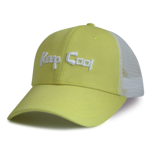 6 Panel Baseball Cap and Trucker Cap made from recycled materials