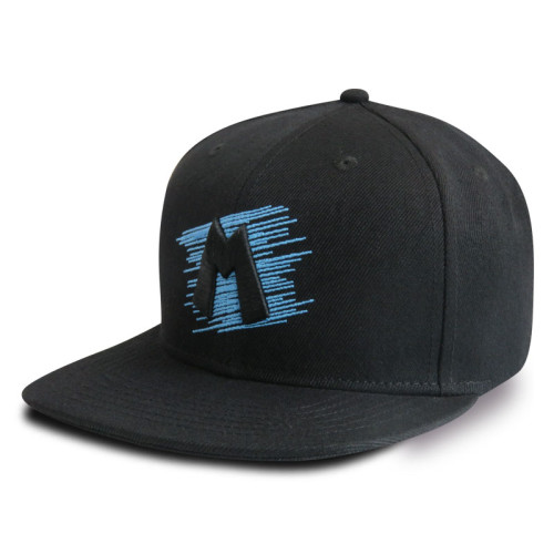 6 Panel Snapback Cap with 3D Embroidery and Flat Embroidery Logo