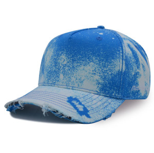 5 panel washed basdeball cap with printing and embroidery