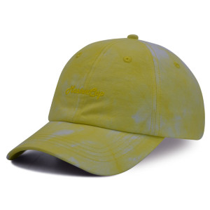 Tie-dyed fabrics 6 panel baseball cap with embroidery logo