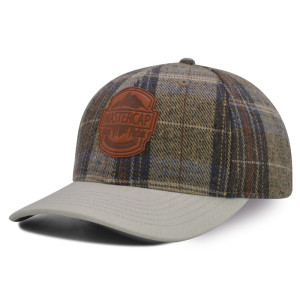 Baseball cap with PU Embossed Badge logo