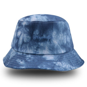 Tie-dyed fabrics bucket hat with embroidery logo
