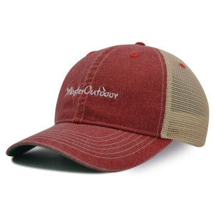 6 Panel washed baseball cap with embroidery logo