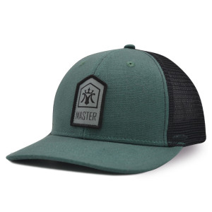Woven label patch baseball cap