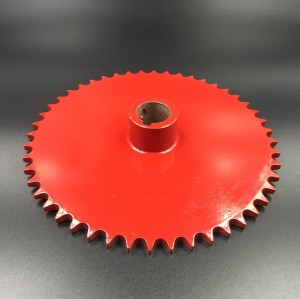 Roller Chain Sprocket 40C48T Red Painted