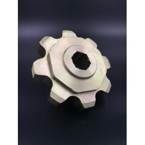 Agriculture Sprocket CA620-8T Yellow Zinc plated