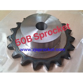 50B Martin Roller Chain Sprockets steel, C45 pilot bore