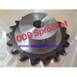 100B Martin Roller Chain Sprockets steel, C45 pilot bore