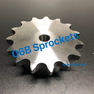 BS(06B) Roller Chain Sprockets steel, C45 pilot bore