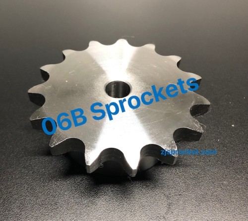 BS(06B) Roller Chain Sprockets steel, C45 pilot bore