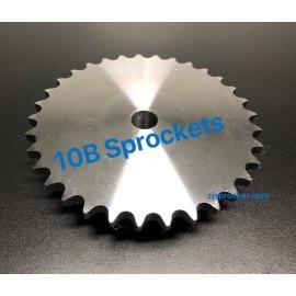 BS(10B) Roller Chain Sprockets steel, C45 pilot bore