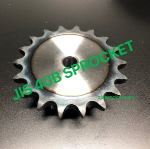 40B JIS Roller Chain Sprockets steel, C45 pilot bore, teeth harden