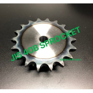 40B JIS Roller Chain Sprockets steel, C45 pilot bore, teeth harden