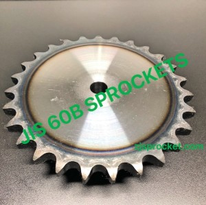 60B JIS Roller Chain Sprockets steel, C45 pilot bore, teeth harden
