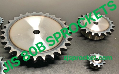80B JIS Roller Chain Sprockets steel, C45 pilot bore, teeth harden