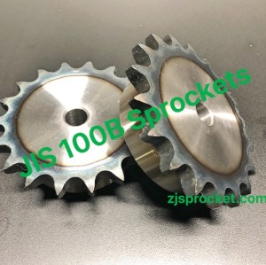 100B JIS Roller Chain Sprockets steel, C45 pilot bore, teeth harden