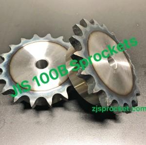 100B JIS Roller Chain Sprockets steel, C45 pilot bore, teeth harden