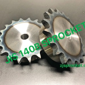 140B JIS Roller Chain Sprockets steel, C45 pilot bore, teeth harden