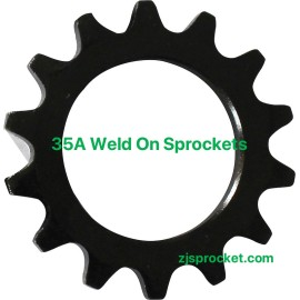 35A weld on roller chain sprockets  surface black oxided, fit fo V W X Y weld on hubs.