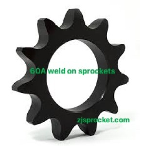 60A weld on roller chain sprockets  surface black oxided, fit fo V W X Y weld on hubs.