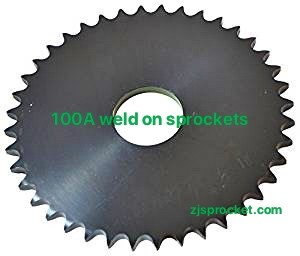 100A weld on roller chain sprockets  surface black oxided, fit fo V W X Y weld on hubs.