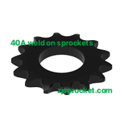 40A weld on roller chain sprockets  surface black oxided, fit fo V W X Y weld on hubs.