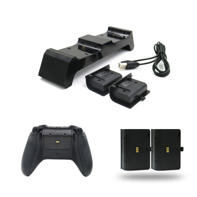 Xbox One Game Controller Charger USB Charging Dock With Two Rechargeable Battery Pack