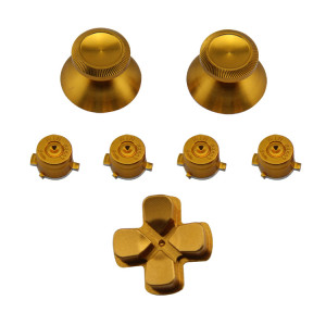 High Quality Aluminium 7 in 1 Kit Buttom For PS4 Controller Gold Color