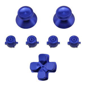 Metal Bullet Buttons And Thumbsticks  PS4 Controller pad  - Blue