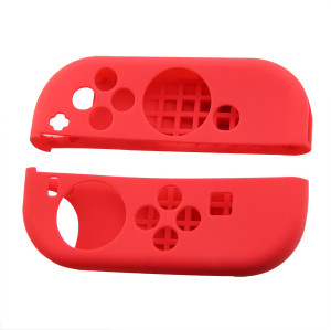 2pcs For Nintendo Switch  Gampad Handle Silicone Cover Skin Case Protector (Red)