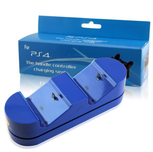 Dual Charging Dock Dual PS4 Charger Station Stand Base For PS4 Wireless Controller blue