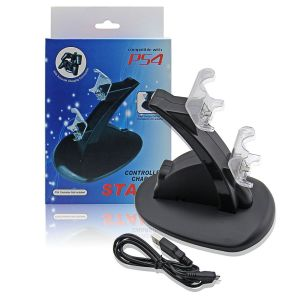 Dual Controller Power Charging Stand For PS4 Dualshok 4 Wireless Controller - Black