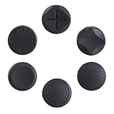 PSP Slim 3000 / PS Vita / 2000 6 in 1 Silicon Buttons Analog Stick Cap Kit