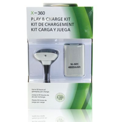 Xbox 360 Slim Controller 4800mAh Rechargeable Battery Pack (White)