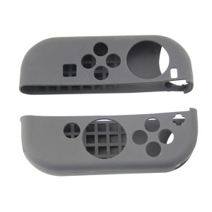 Nintendo Switch Gampad Handle Silicone Cover Skin Case Protector (Black)