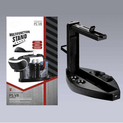 Multifunction Display Vertical Stand for PS VR Headset Dual Chargers Dock for PS Move/ PS4/PS4 Slim/ PS4 Pro